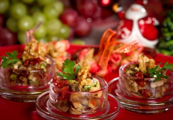 Mini Salada de Berinjela e Abobrinhas