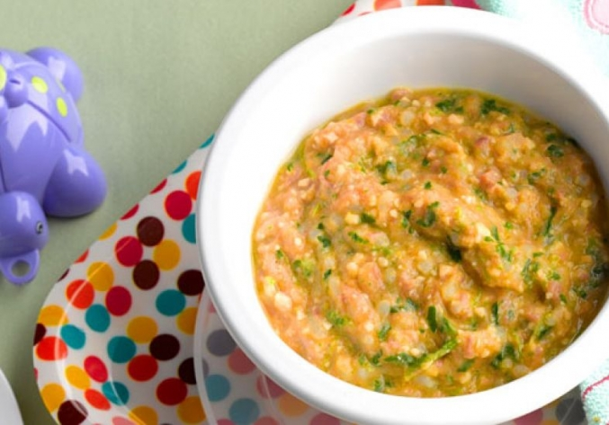 Sopa de Arroz, Carne e Legumes