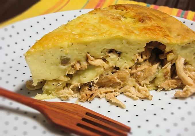 Torta de Frango com Batata e Maionese