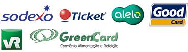 Tickets aceitos: VR Alimentação, Sodexo PASS Alimentação, Visa Vale e Ticket